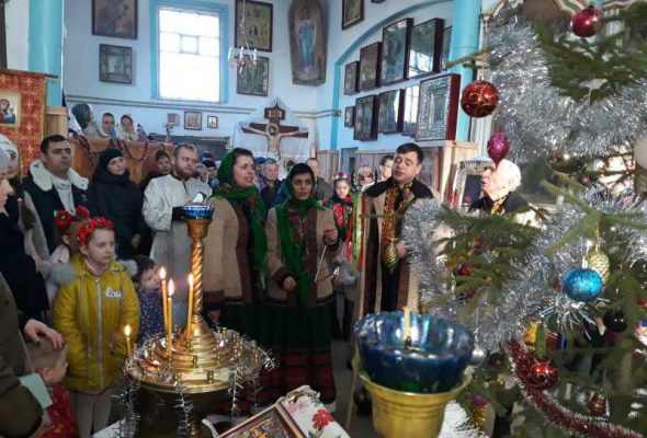 Вітання прихожан з Різдвом Христовим